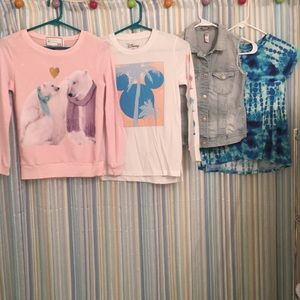 Other - 4 Girls Med 7/8 long sleeve shirts